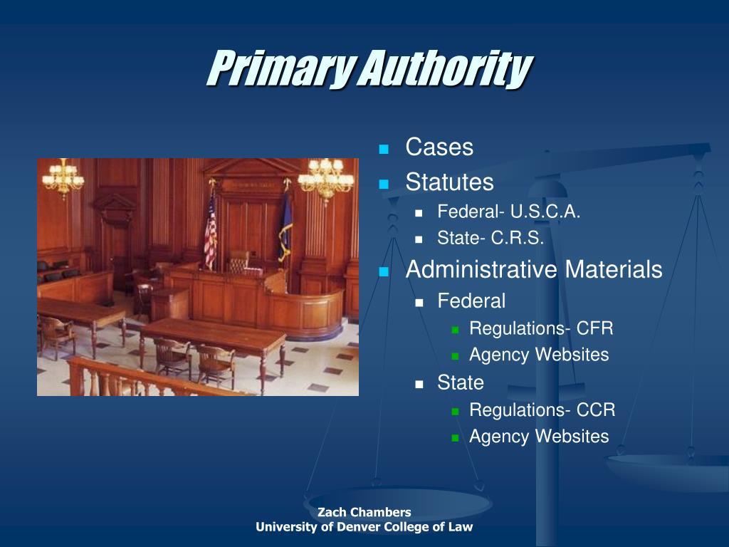 Primary Authority