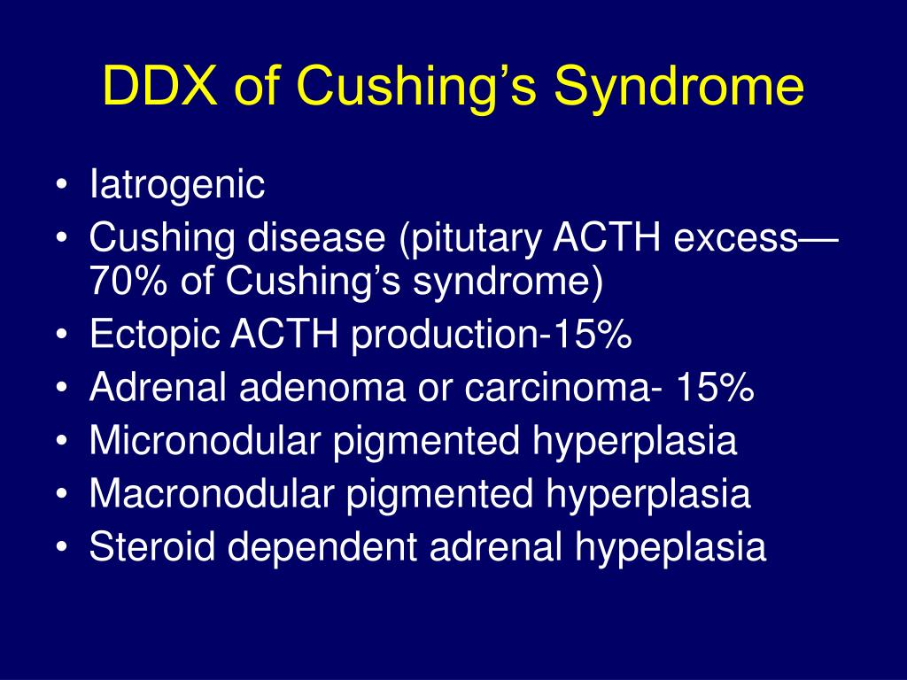 DDX of Cushing's Syndrome