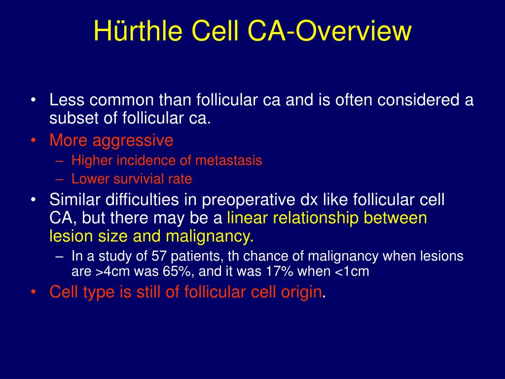 Hürthle Cell CA-Overview