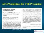 accp guidelines for vte prevention