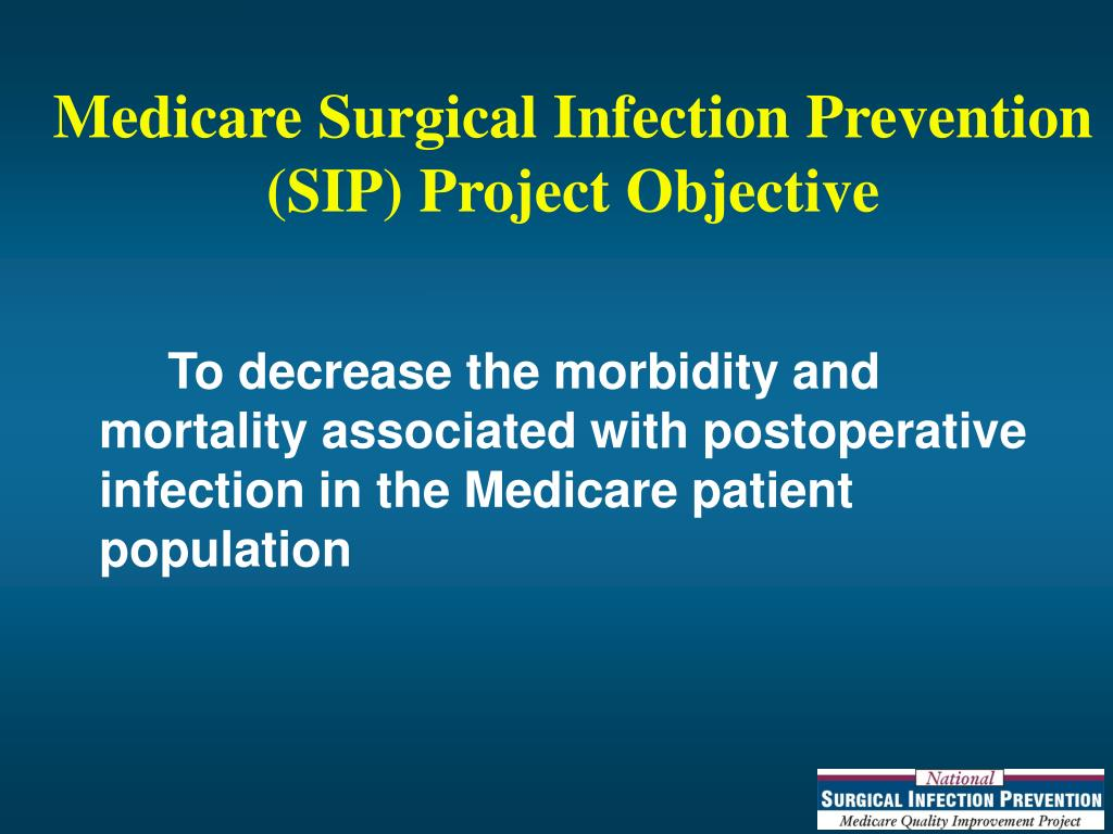 Medicare Surgical Infection Prevention (SIP) Project Objective