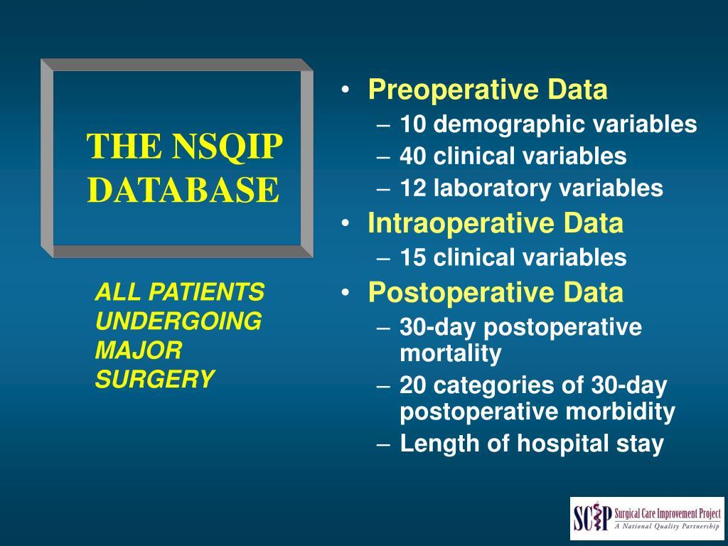 Preoperative Data
