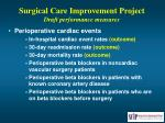 surgical care improvement project draft performance measures45