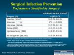 surgical infection prevention performance stratified by surgery 1