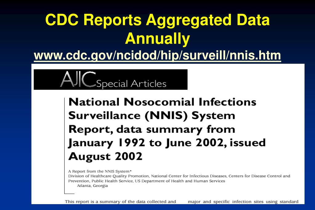CDC Reports Aggregated Data