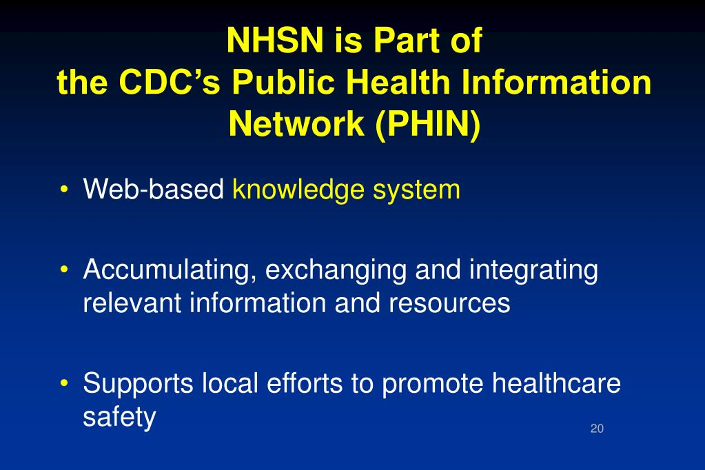 NHSN is Part of