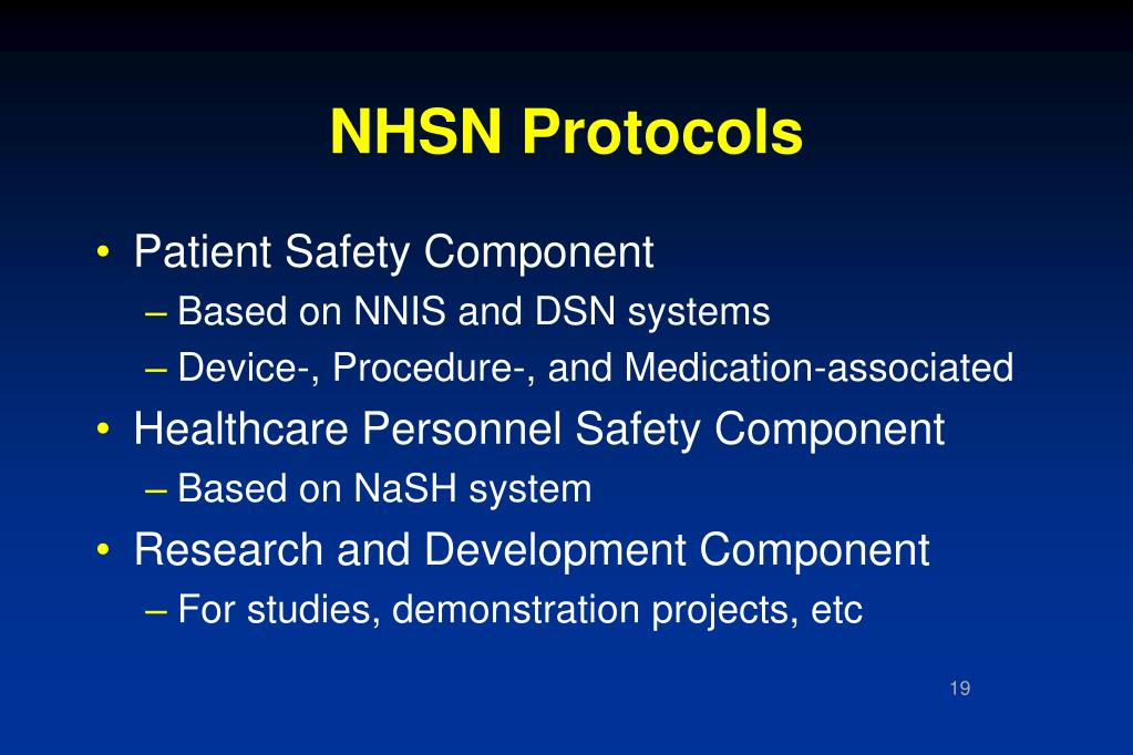 NHSN Protocols