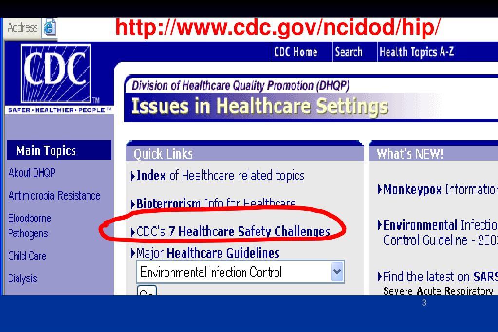http://www.cdc.gov/ncidod/hip