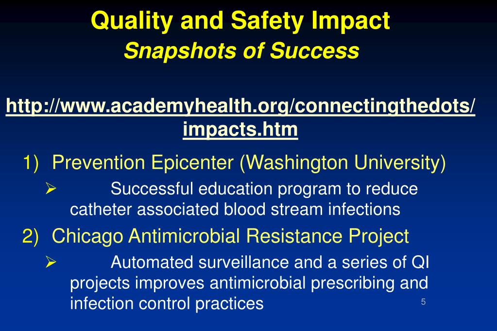 Quality and Safety Impact