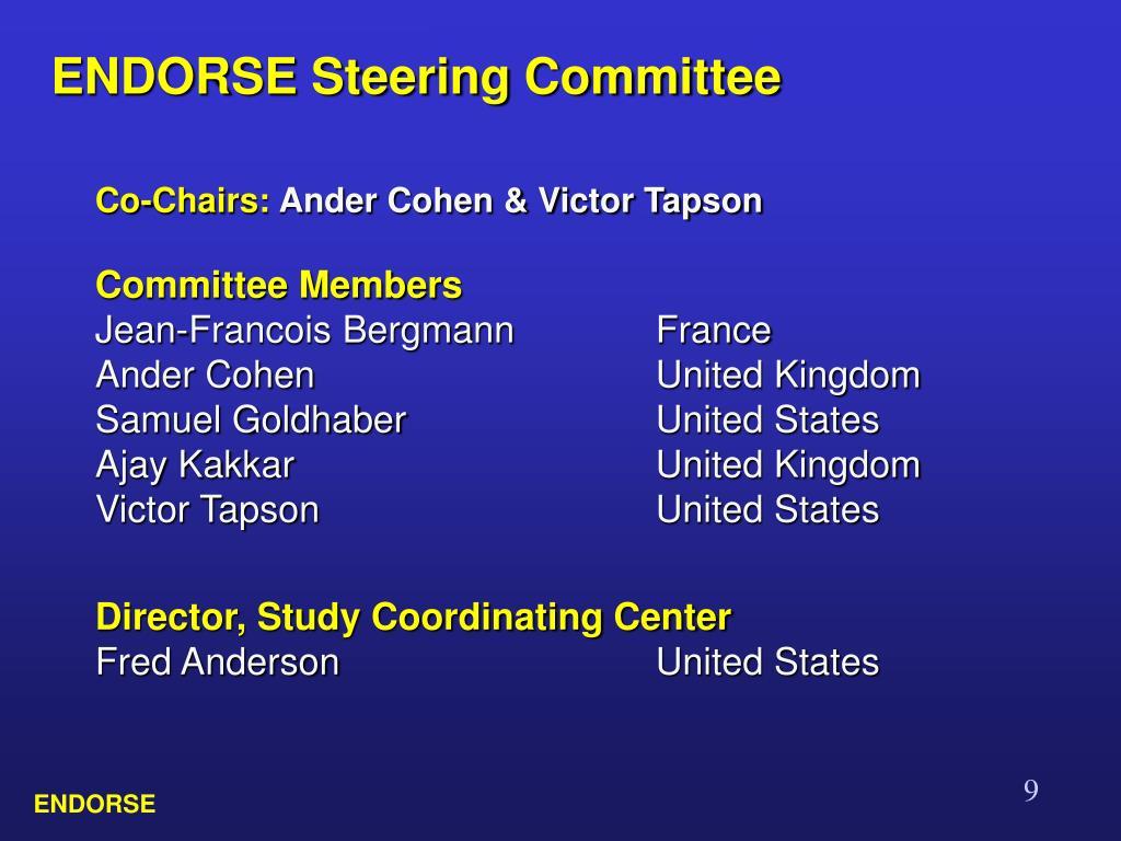 ENDORSE Steering Committee