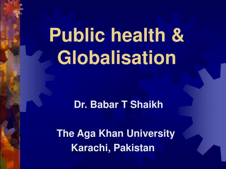 Public health globalisation