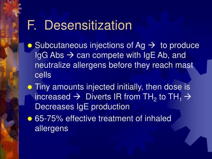F.  Desensitization