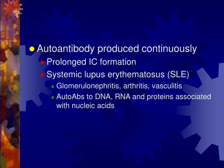 Autoantibody produced continuously