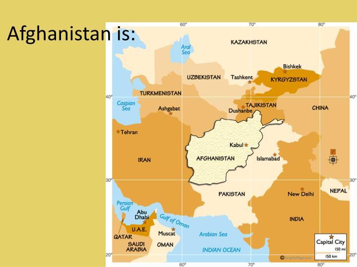 Afghanistan is:
