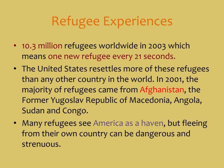 Refugee Experiences