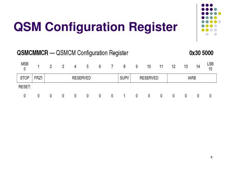 QSM Configuration Register