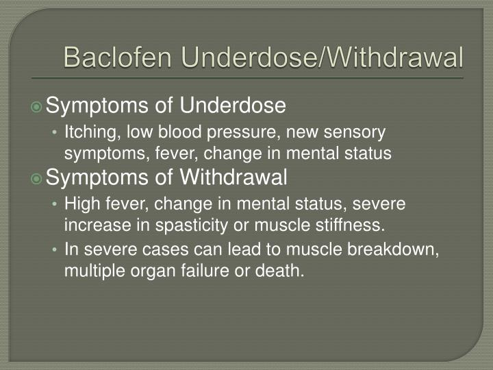 PPT  Intrathecal Baclofen Pump PowerPoint Presentation  ~ Baclofen Withdrawal Symptoms
