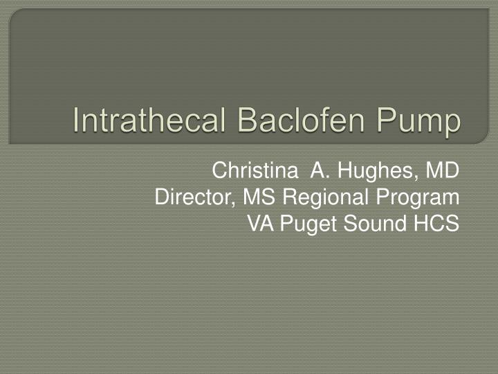 Intrathecal Pump Mri images ~ Baclofen Reviews