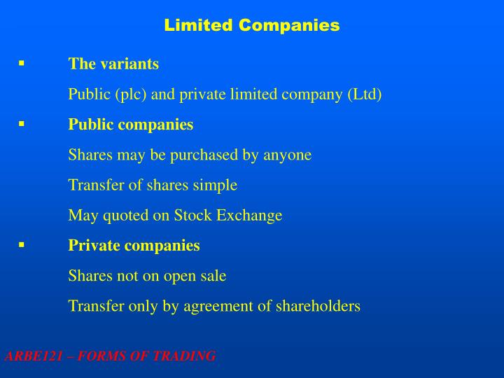Limited Companies