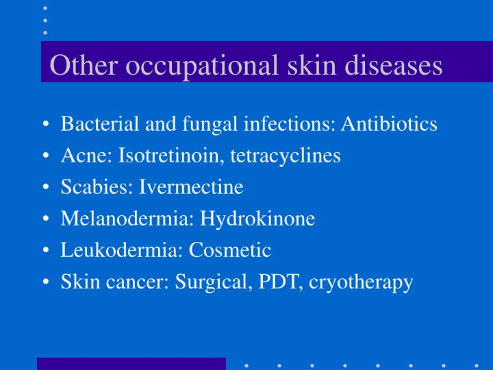 Other occupational skin diseases