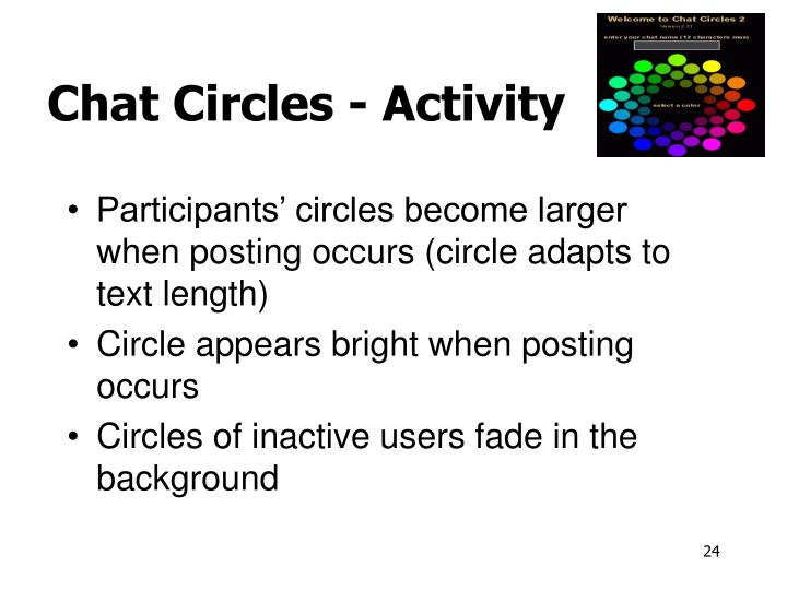 Chat Circles - Activity