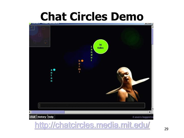 Chat Circles Demo