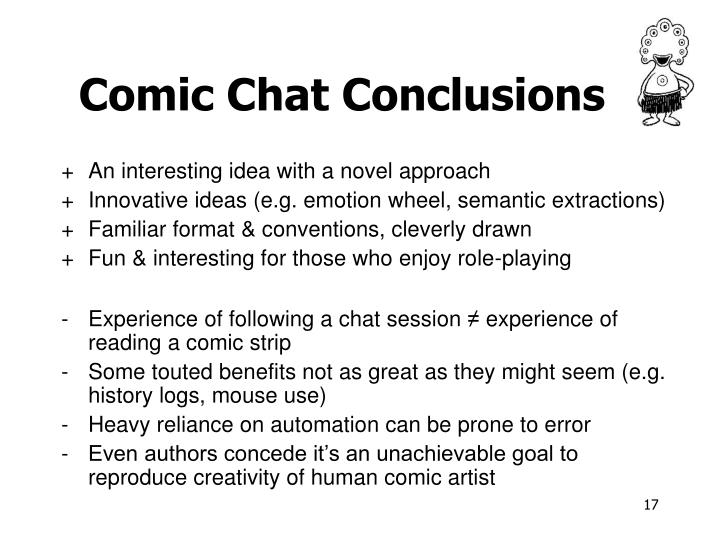 Comic Chat Conclusions