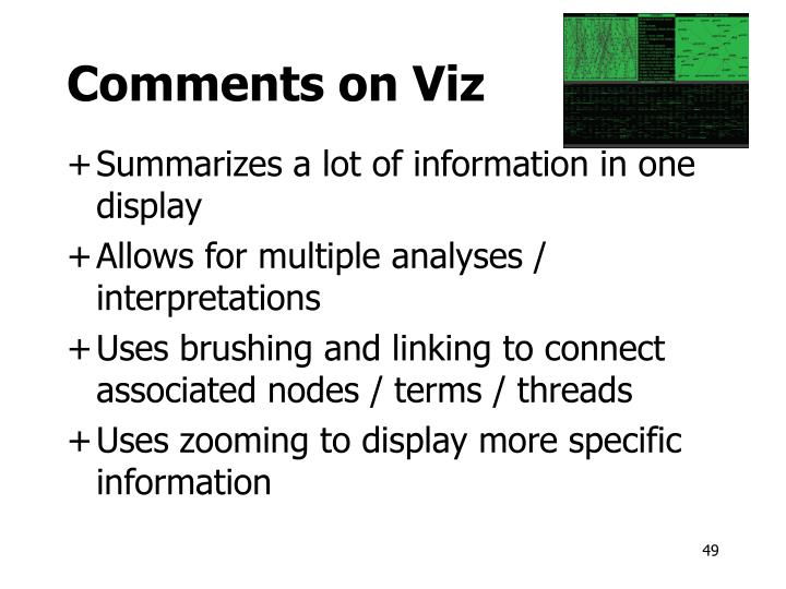 Comments on Viz