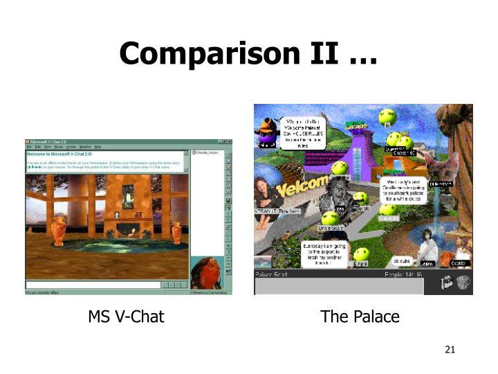 Comparison II …