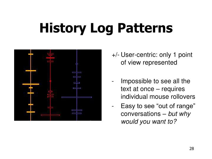 History Log Patterns
