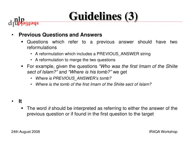 Guidelines (3)