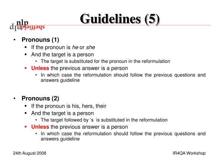 Guidelines (5)