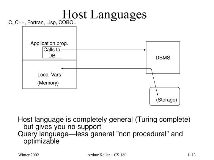 Host Languages