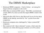 the dbms marketplace