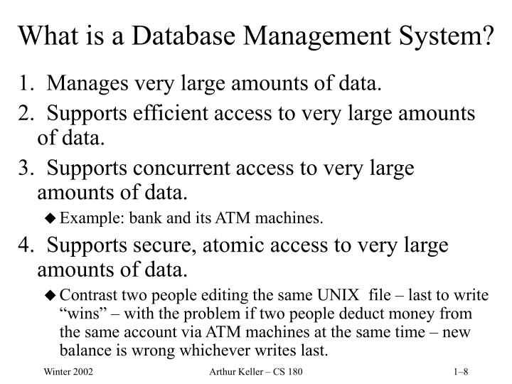 What is a Database Management System?