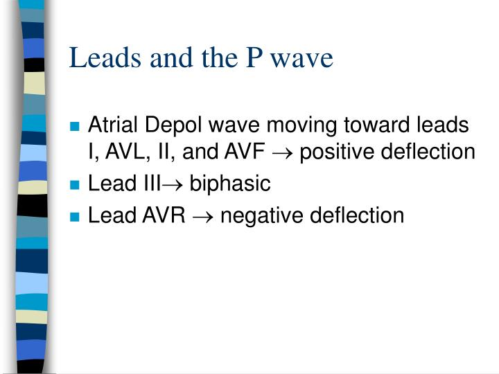 Leads and the P wave