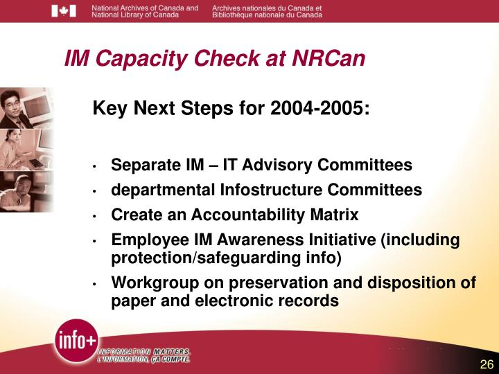 IM Capacity Check at NRCan