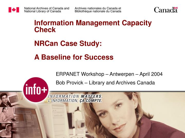 Information management capacity check nrcan case study a baseline for success