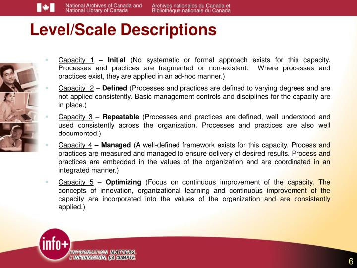 Level/Scale Descriptions