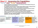 step 3 1 assessing the capabilities as is and to be assessment