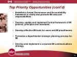 top priority opportunities cont d