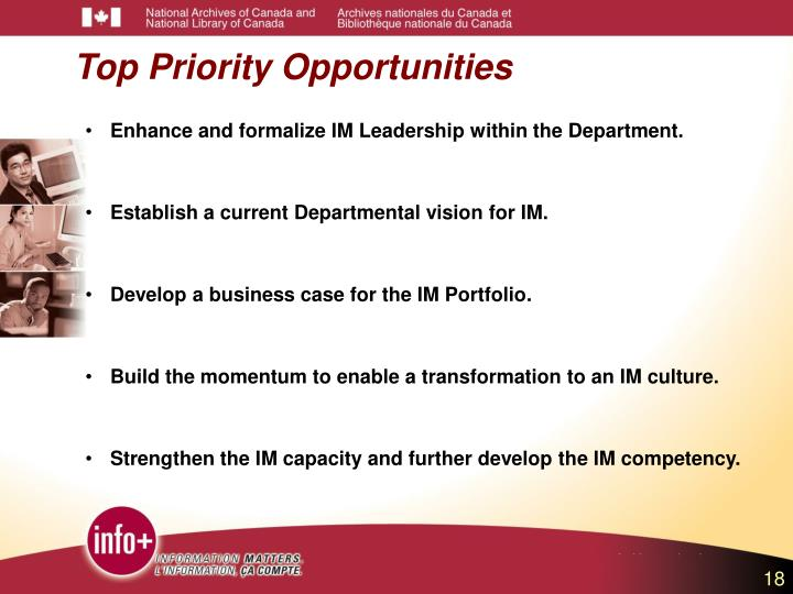 Top Priority Opportunities