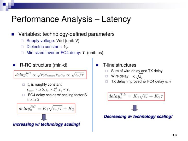Performance Analysis – Latency