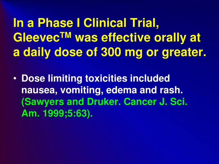 In a Phase I Clinical Trial,