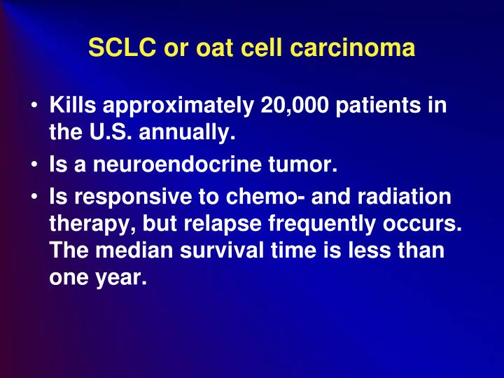 SCLC or oat cell carcinoma