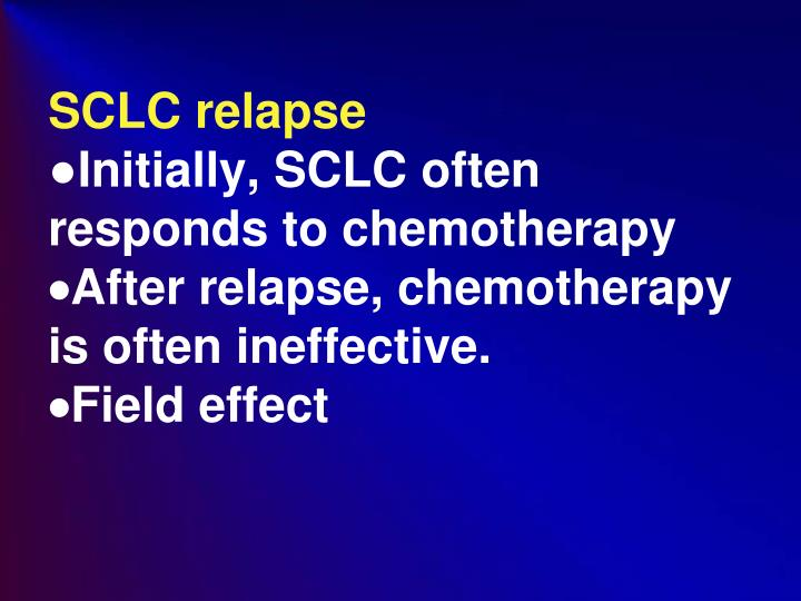 SCLC relapse