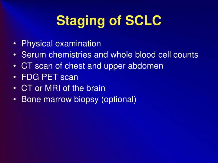 Staging of SCLC