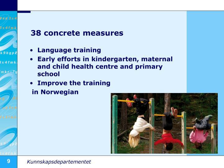 38 concrete measures