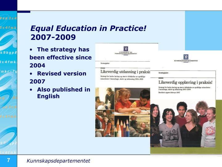 Equal Education in Practice!