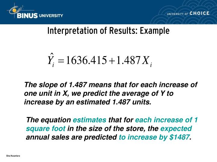 Interpretation of Results: Example